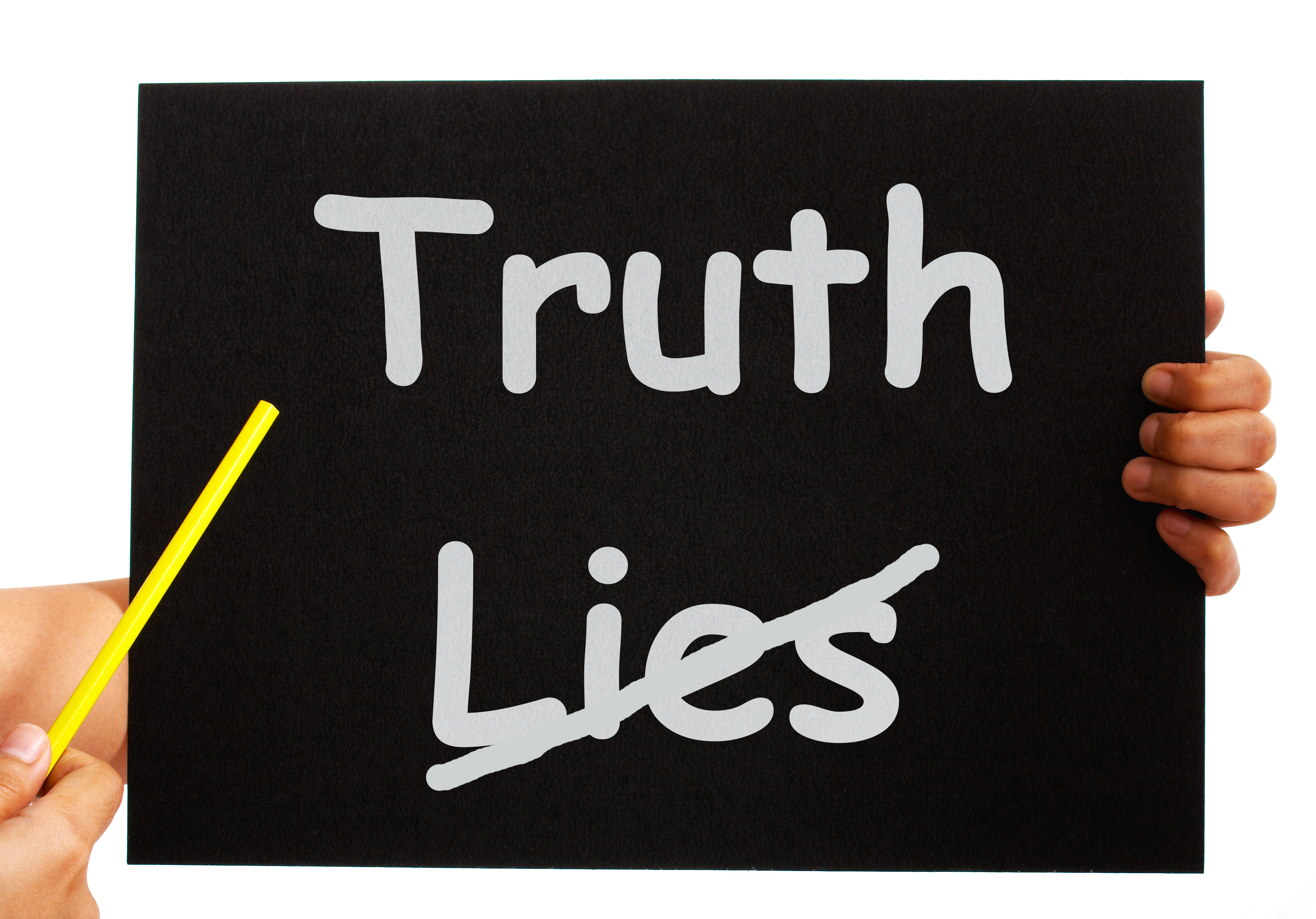Truth Not Lies Board Showing Honesty